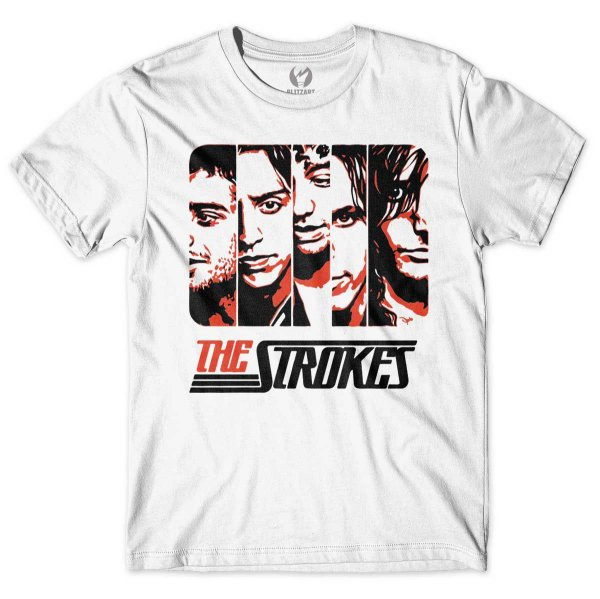 Camiseta The Strokes - Faces
