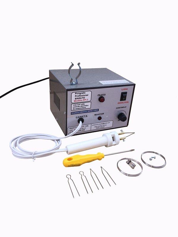 Pirógrafo Profissional Sinzato modelo PP-3, bivolt 110/220 v., Controle Eletronico de Temperatura.