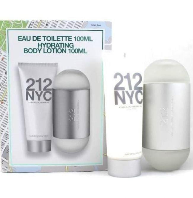 Kit Perfume 212 Feminino 100ml + Hidratante 100ml