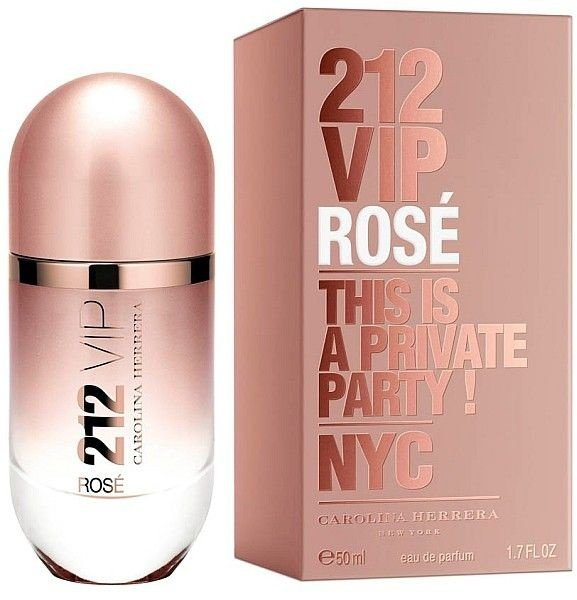 212 VIP Rose Feminino 80ml Carolina Herrera