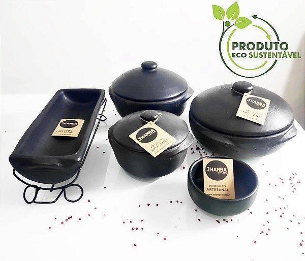 Kit Moquequeira de barro para moqueca de Peixe