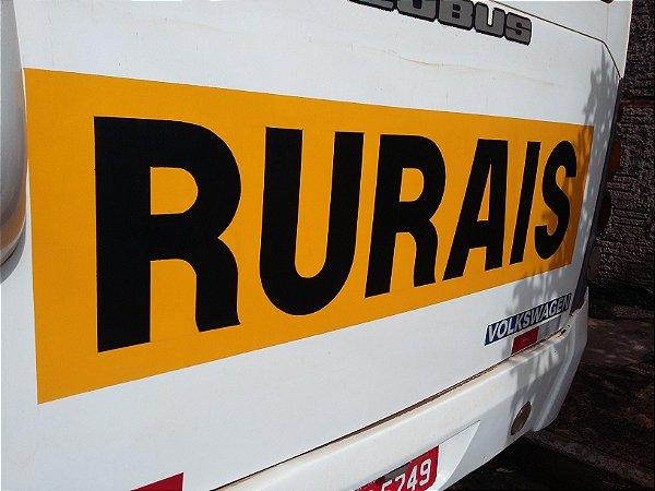 Adesivos Rurais - Sinalização de Ônibus Rural