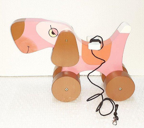 Brinquedo de Madeira Cachorrinho de Puxar