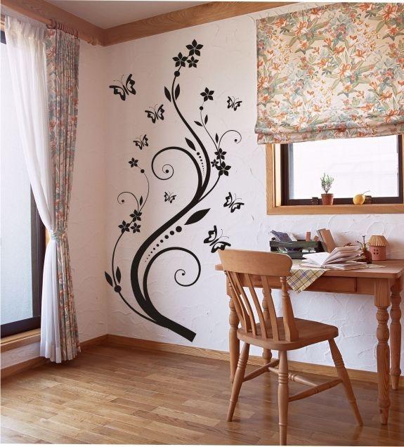 Adesivo Decorativo Floral e Borboletas
