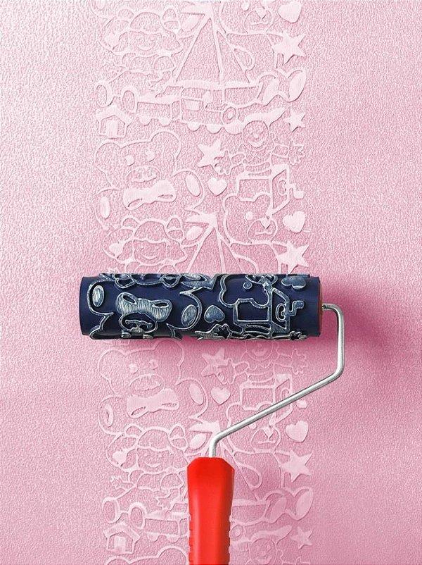 Rolo Para Textura Magiefeito Menina Com Suporte AT1108 - Atlas
