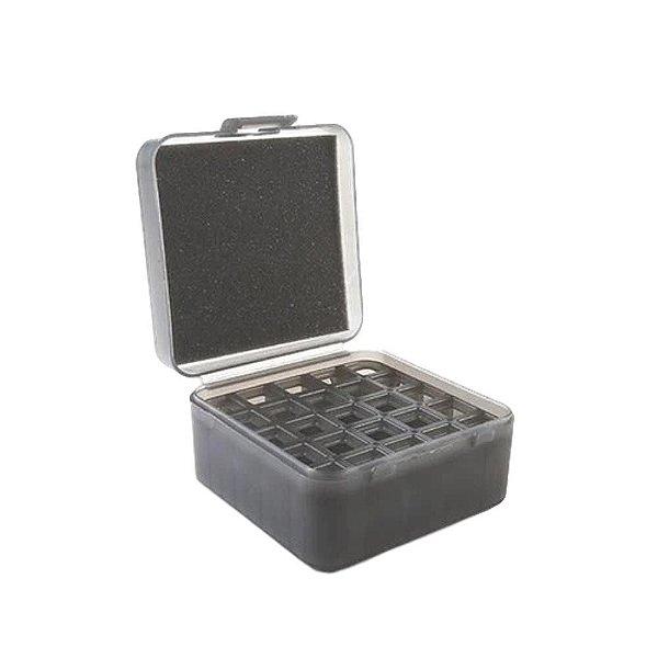 Caixa Porta Munição 25 Cartuchos 12GA (Com Adaptador p/ 20GA - 36GA)