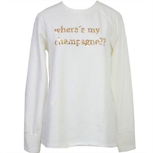 MOLETOM CHAMPAGNE - OFF WHITE