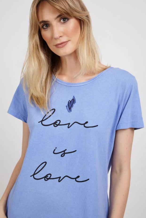 T-SHIRT LOVE IS LOVE (DISPONÍVEL LARANJA) | REF: P0MATS17