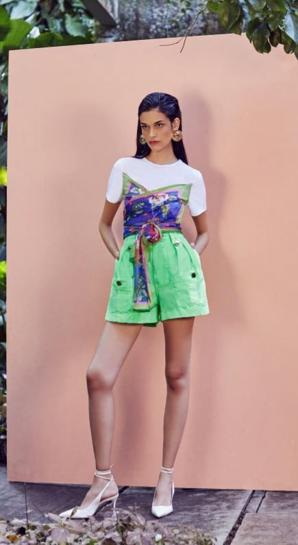 SHORTS CUTS - VERDE NEON | REF: BE23481