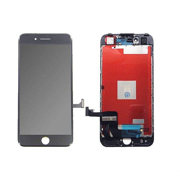 GABINETE FRONTAL DISPLAY LCD MODULO COMPLETO APPLE IPHONE 7 PRETO