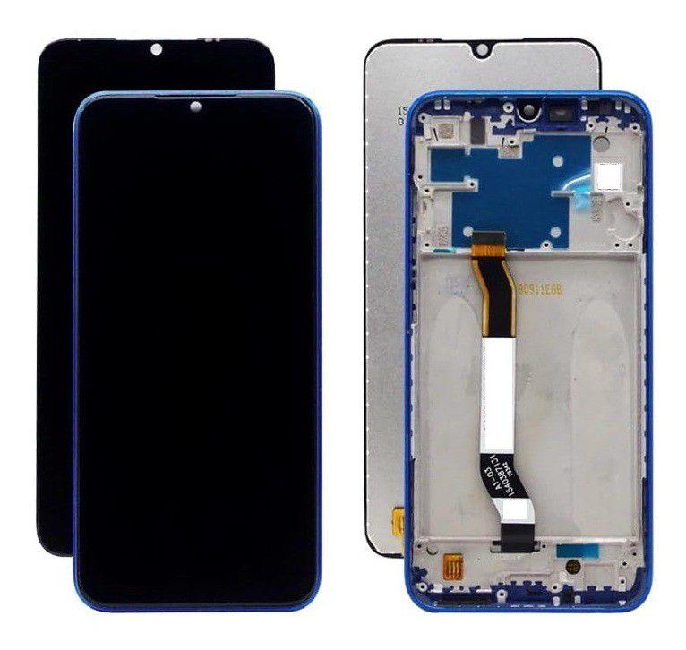 GABINETE FRONTAL DISPLAY LCD MODULO COMPLETO XIAOMI REDMI NOTE 8 AZUL (ORIGINAL CHINA COM ARO)