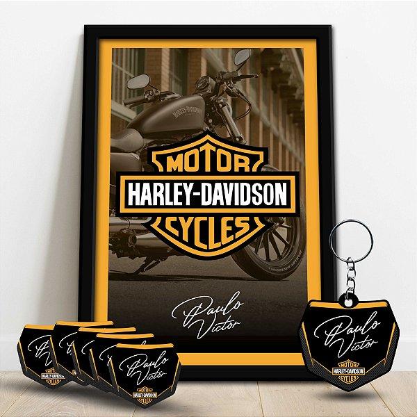 Combo - Quadro Decorativo - Harley