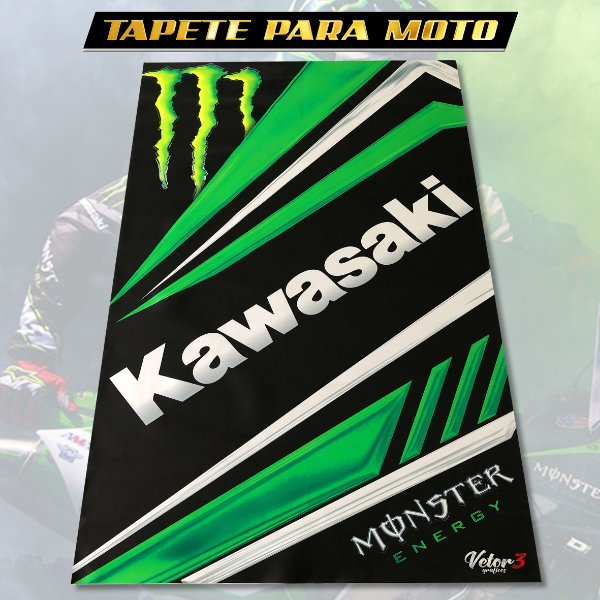 TAPETE MOTO - KAWASAKI
