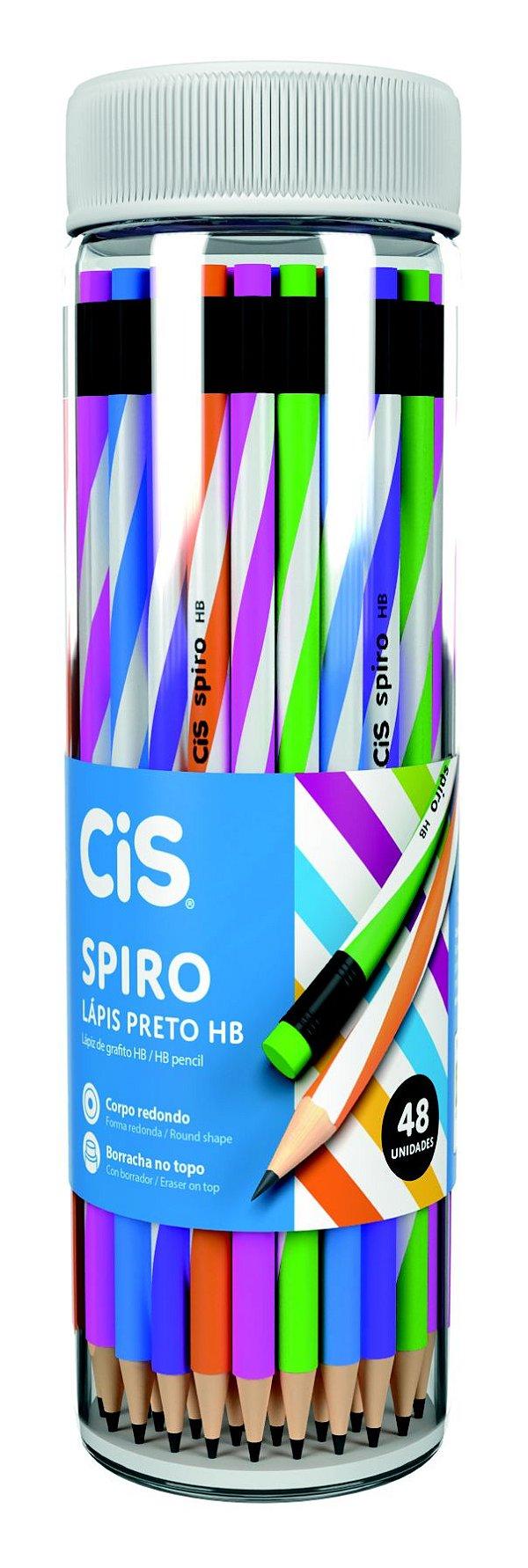Lápis Preto com Borracha Cis Spiro