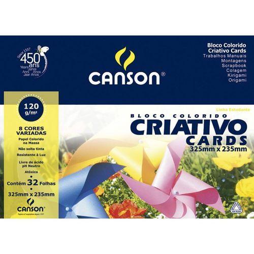 Bloco Criativo A4+ 120G 325 X 235mm 32Folhas Canson