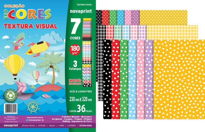 Bloco Criativo Textura Visual 1 Novaprint 180 gramas 36 Folhas