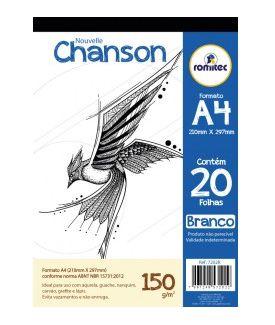 Bloco Desenho A4 150G 20F Branco Chanson Romitec