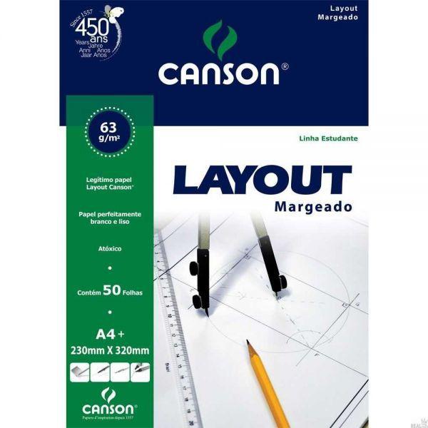 Bloco Layout Margeado A4+ 63g 50F Canson