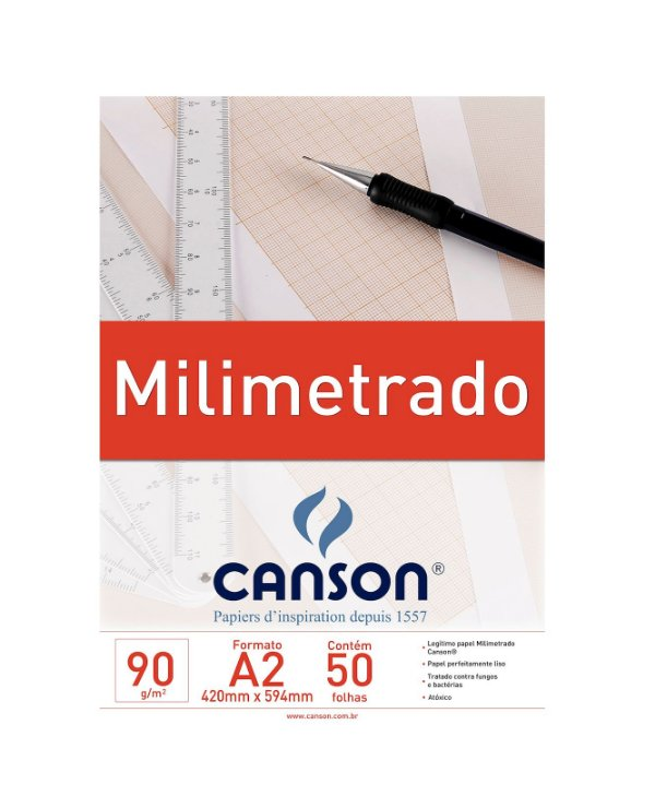 Bloco Milimetrado Tecnico A2 50F 90G Canson