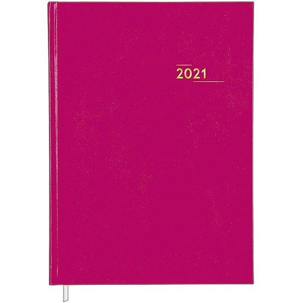 Agenda Costurada Diária Napoli Tilibra Rosa 2021