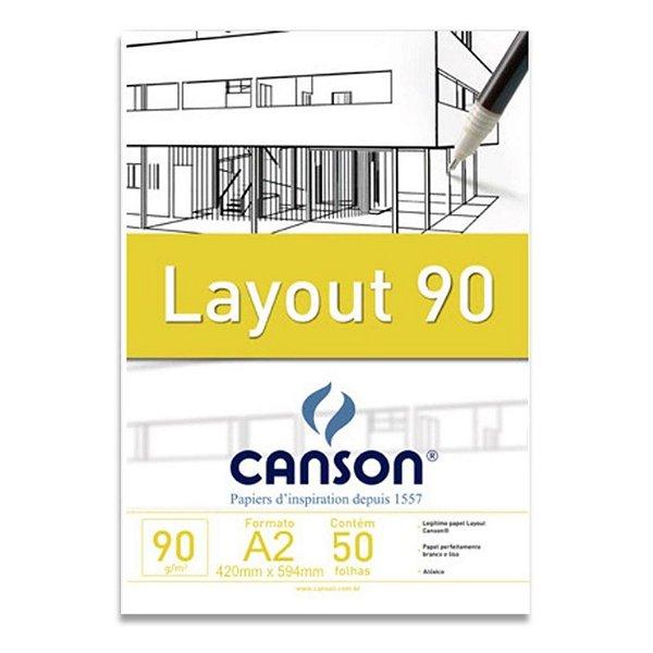 Bloco Layout 90g Técnico Canson S/ Margem A2 50 Folhas