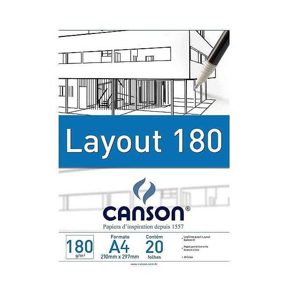 Bloco Layout 180g Tecnico Canson A4  20 Folhas
