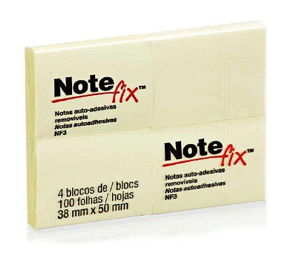 Bloco Notefix 3M NFX3 100F 4Bl Amarelo