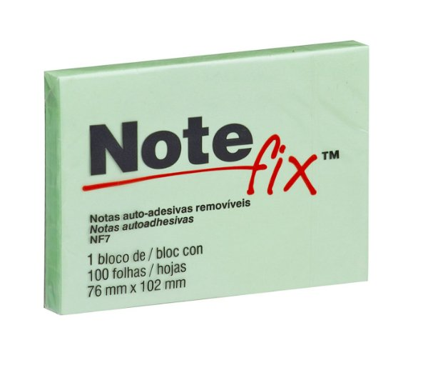 Bloco Notefix 3M NFX7 100F 76 X 102Mm Verde