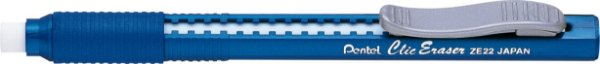 Caneta Borracha Pentel Clic Eraser - Azul
