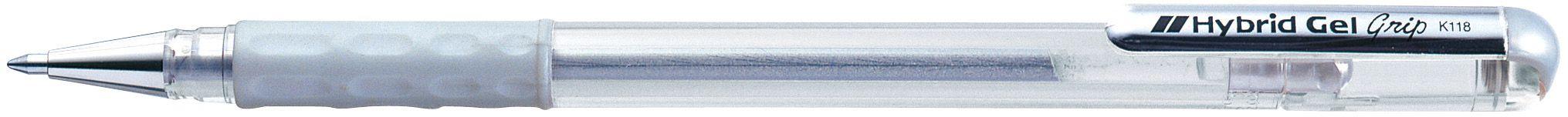 Caneta Hybrid Gel Grip Metallic Prata K118-Z
