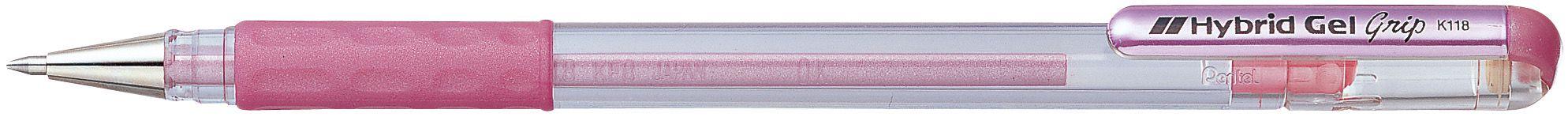 Caneta Hybrid Gel Grip Metallic Rosa K118-Mp