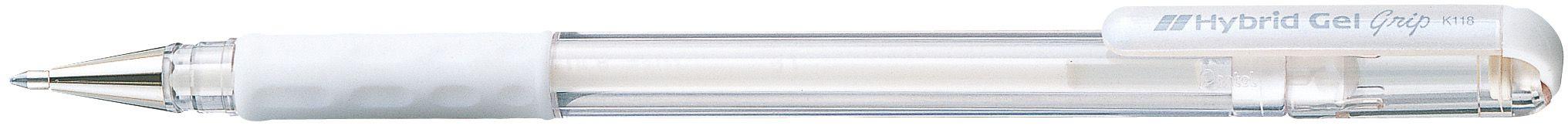 Caneta Hybrid Gel Grip Branca K118-LW