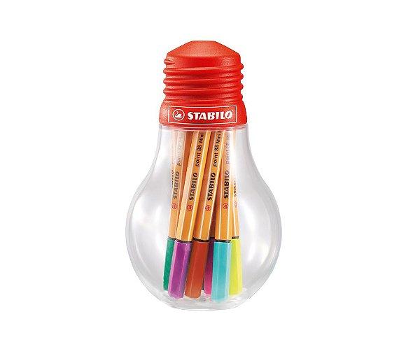 Caneta Stabilo 688/12-061 Mini Colorfull Ideas Lâmpada com 12 unidades