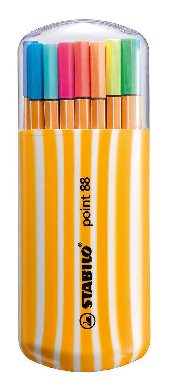Caneta Stabilo Point 88 0.4mm - 8820-022 - Estojo com 20 unidades
