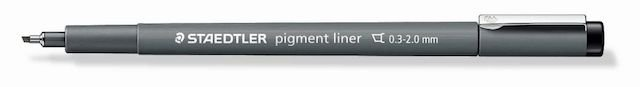 Caneta Nankin Pigment Liner Staedtler Chanfrada 0.3 - 2.0mm