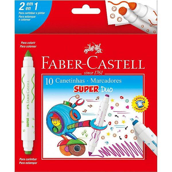 Canetinha Hidrografica 2 Pontas Super Duo Faber Castell