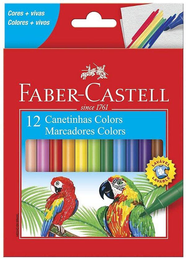Canetinha Hidrografica 12 Cores Faber Castell Regular