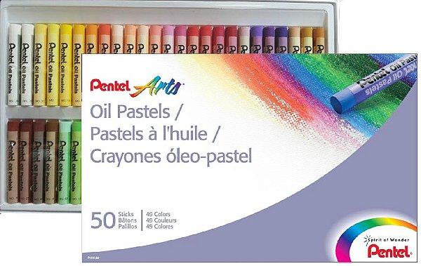 Giz Pastel Oleoso Pentel - Arts - 50 Cores