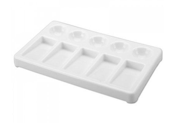 Godê Plástico Retangular 10 Cavidades Sinoart