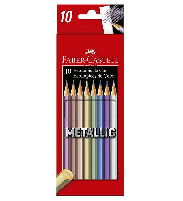 Lápis de Cor 10 Cores Metallic Faber