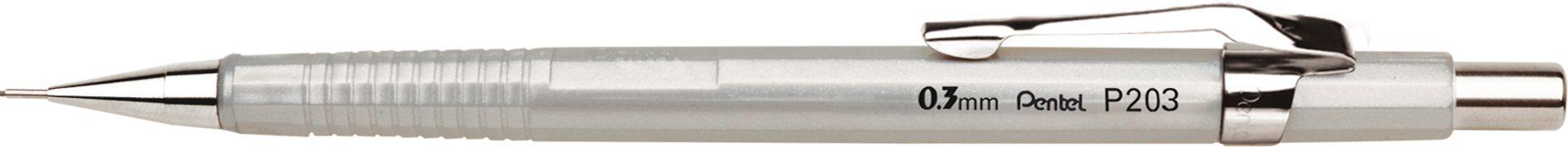 Lapiseira 0.3mm Pentel Sharp Prata 203-ZPB