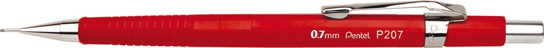 Lapiseira 0.7mm Pentel Sharp P207FRPB - Vermelho Vivo