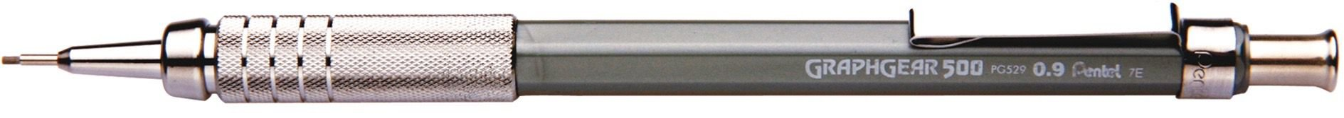Lapiseira 0.9mm Pentel Graphgear - Prata