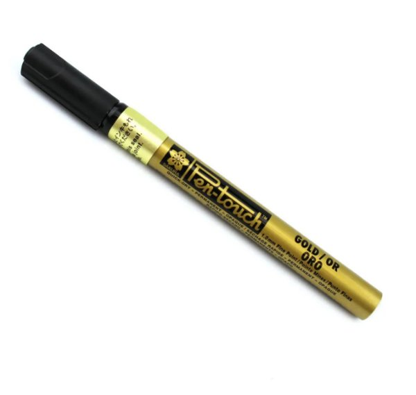 Marcador Artistico Permanente Pen-Touch Sakura - Ouro - 41301