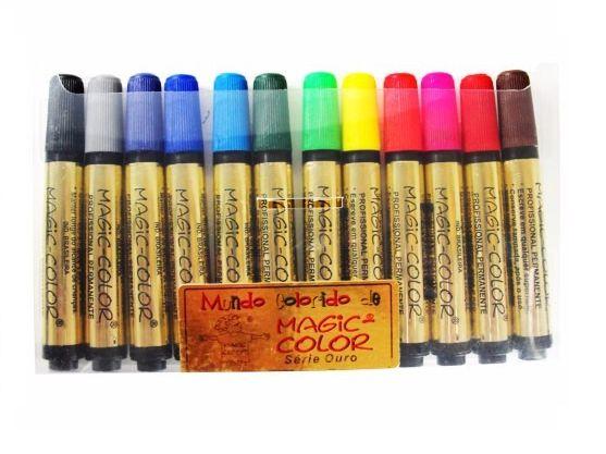 Marcador Magic Color Gold - Cores da Moda C/ 12 un