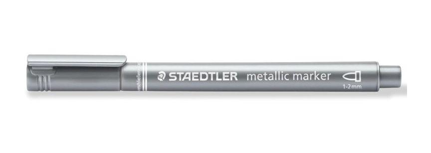 Marcador Staedtler Metallic Marker 1-2Mm - Prata