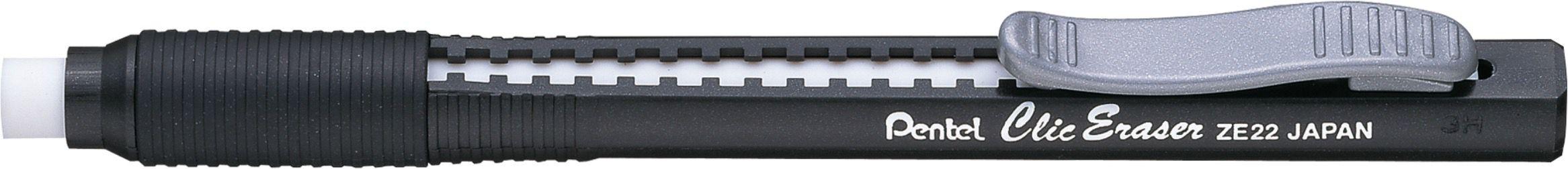 Caneta Borracha Pentel Clic Eraser - Preta