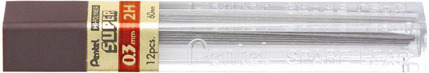 Grafite Pentel Super 0.3mm
