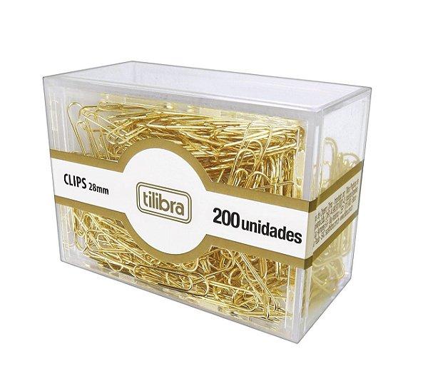Clips 28mm Dourado C/200 Uni - Tilibra