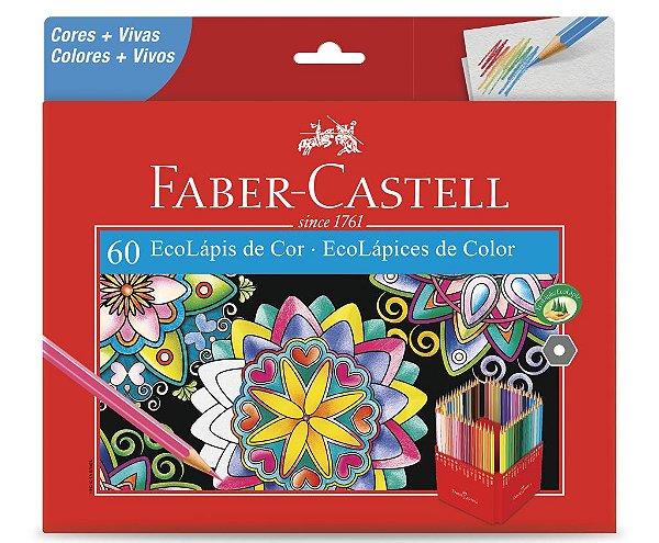Lapis de Cor Faber Castell 60 Cores